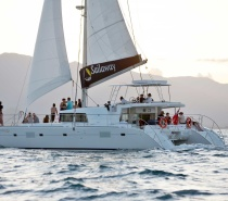 The experience of sailing on board a luxury sailing catamaran