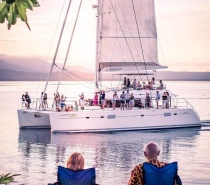 Spectacular Sunset Sail over the coral sea & views of the Daintree mountains