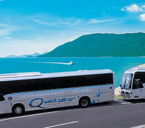 Luxury coach transfers available, scenic coastal tour from Cairns and Northern Beaches