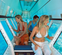 Semi-submersible coral viewing tour, interior