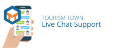 Support is now available via live chat on TOURISM TOWN!