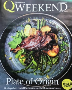 "Thrilled to be included in today's ""Queensland on a plate"" feature in QWeekend (The Courier-Mail)."