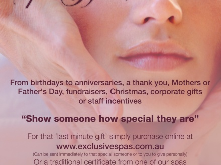 SPA VOUCHERS for all ocassions