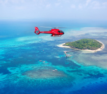 Nautilus Aviation fly over Green Island
